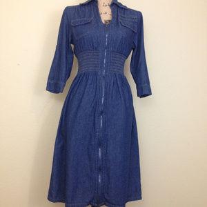 Jolie Midi Dark Blue Jeans Dress